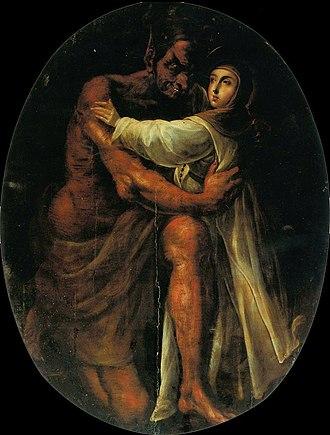 Cristóbal de Villalpando - Image: Santa rosa tentada por el demonio Cristobal de Villalpando