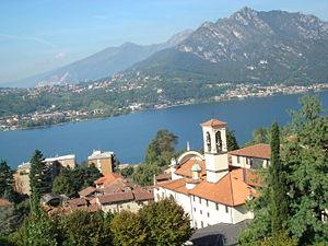 Somasca - The Sanctuary of Somasca, which honours the memory of Saint Gerolamo Emiliani, overlooks Lake Como.