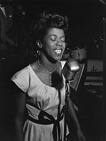 Sarah Vaughan, Café Society (Downtown), New York, N.Y., ca. Aug. 1946 (William P. Gottlieb 08801) (cropped).jpg