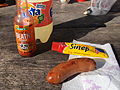 Sausage with strong mustard and chili sauce.jpg