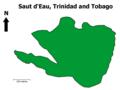 Saut d'Eau, Trinidad and Tobago Map.png