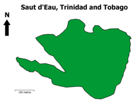 Saut d'Eau, Trinidad and Tobago Map.png