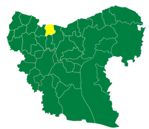 Azaz District - The administrative center of Sawran Subdistrict shown above is the city of Sawran.