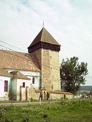 Saxon church with fortified belltower in Netuş