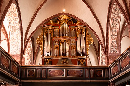 Historic Organ in Lenzen (Elbe), Germany