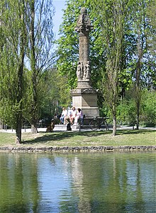 Sckell Monument On The Banks Of The Kleinhesseloher See