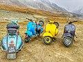 Scooty bikes in khunjerab top.jpg