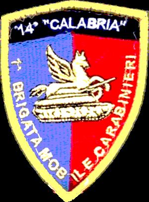 "14th Carabinieri Battalion ""Calabria"" - Sleeve patch 14th Carabinieri Battalion ""Calabria"""