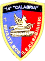 "Scudetto omerale 14 Btg Calabria - Sleeve patch 14th Carabinieri Battalion ""Calabria"".png"