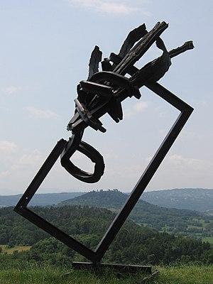 Gergovie plateau - Sculptures by Yves Guérin on the plateau.