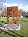 Sculpture map in Anne Hathaway's cottage garden. - geograph.org.uk - 363503.jpg