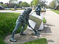 Sculptures of navvies by the Royal Military Canal - geograph.org.uk - 1258500.jpg
