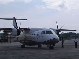 Een Dornier 328 in Caticlan