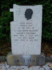 Seán Mac Eoin's burial site in St. Emers Cemetery, in Ballinalee, Ireland.
