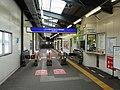 Seaside Line Kanazawa-Hakkei station (provisional) gate.jpg