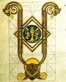 Seconda bibbia di Carlo il Calvo, incipit, 870 circa, Biblioteque nationale di Francia, Parigi MS. Lat 2 f. 44 verso.jpg