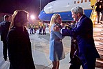 Secretary John Kerry Greets U.S. Ambassador to Austria Alexa Wesner After Deplaning at Vienna International Airport (26774170090).jpg