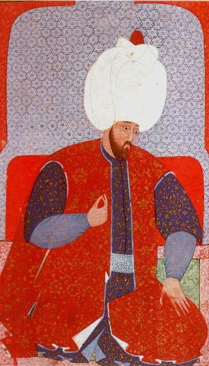 Ottoman clothing - Ottoman Sultan Suleiman the Magnificent adorned in a well embroidered Kaftan.