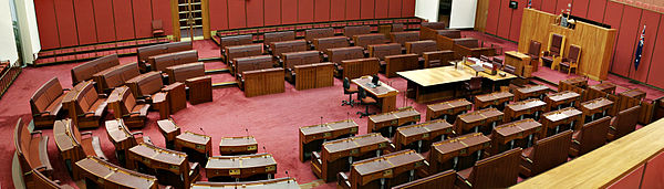 The Australian Senate, its upper house Senate panorama.jpg