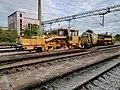 Serbian Railways Infrastructure rail track maintenance machine.jpg