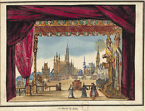 La Juive - Design for Act 5 of the original 1835 production