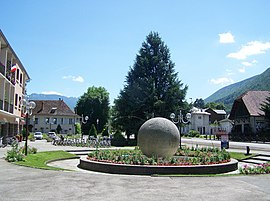 The Town Hall Square in Sévrier
