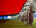 Sheppard Airmen support new recruits at Rangers game 150704-F-OP138-014.jpg