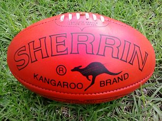 Football (ball) - An Australian rules football.