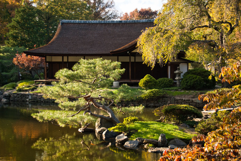 File shofuso japanese house and wikimedia commons for Japanese house garden