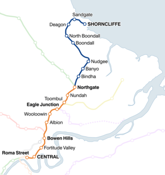 Shorncliffe railway line - Image: Shorncliffe railway line map