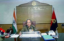Shri R.S. Mooshahary assuming the charge as the Director General of Border Security Force (BSF) in New Delhi on January 10, 2005.jpg