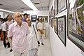 Shyamal Kumar Sen with Biswatosh Sengupta and Susanta Banerjee Visiting 43rd PAD Group Exhibition - Kolkata 2017-06-20 0385.JPG