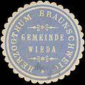 Siegelmarke Gemeinde Wieda H. Braunschweig W0352107.jpg