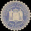 Siegelmarke K. Kommissarius f.d. Erzbischöfliche Vermögens-Verwaltung in der Diöcese Koeln W0360881.jpg