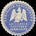 Siegelmarke K. Pr. Artillerie-Prüfungskommission W0379418.jpg