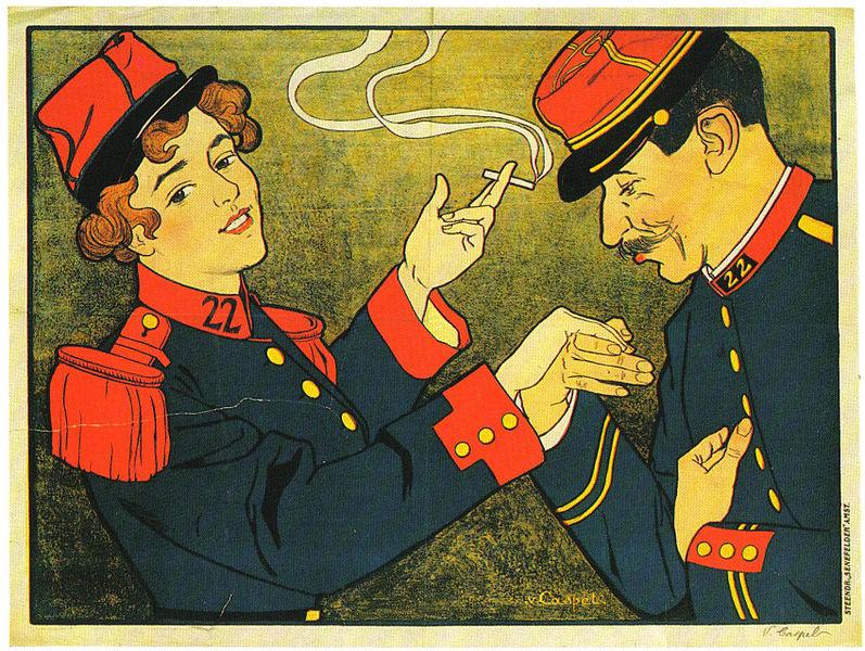 Reclamo publicitario de una marca de tabaco.