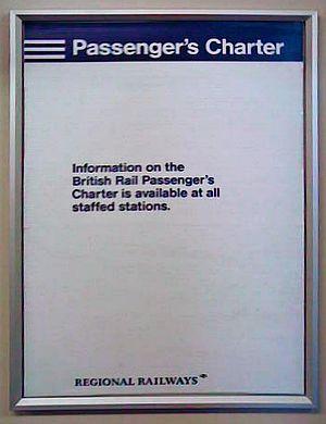 British Rail brand names - Regional Railways branding on an in-train poster, still displayed by default in 2007