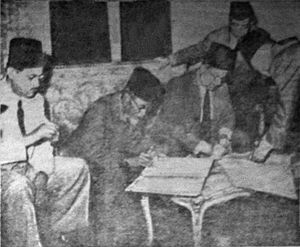 Agus Salim - Salim and an Egyptian diplomat signing a friendship agreement in late 1947