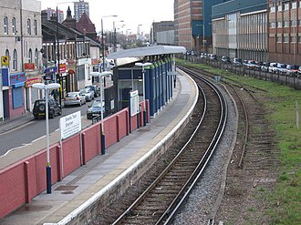 Silvertown railway station - In April 2006 a single track and platform were still in use, with disused infrastructure still visible adjacent