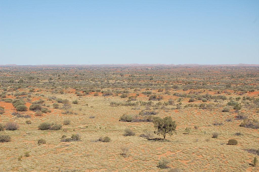 Gurun Simpson di Wilayah Utara, Australia.