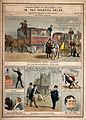 Six British political satirical scenes. Coloured lithograph, Wellcome V0011356.jpg