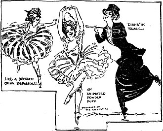 Adeline Genée - Sketches by journalist Marguerite Martyn at the Olympic theatre, St. Louis, Missouri, 1909