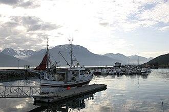 Skibotn - View of the village harbor