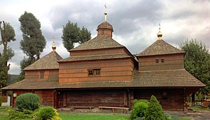 Skole - Image: Skole. Church of St.Paraskeva (wooden) XVII century