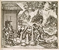 Slaves from Guinea digging for gold and silver in mines in Hispaniola - America (1595), A2 - BL.jpg