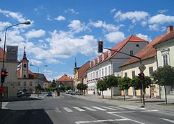 Liberty Square, the central square in Slovenska Bistrica