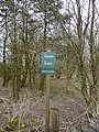Small green notice in a small copse - geograph.org.uk - 1759748.jpg