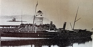 SS Snaefell (1863) - Snaefell pictured berthed at the Red Pier, Douglas.