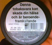 Snus - Wikipedia, the free encyclopedia