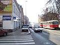 Sokolovská, od Na kopečku do centra, tramvaj.jpg